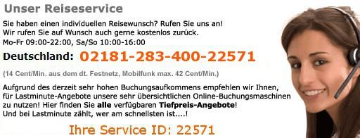 Reiseservice Telefon
