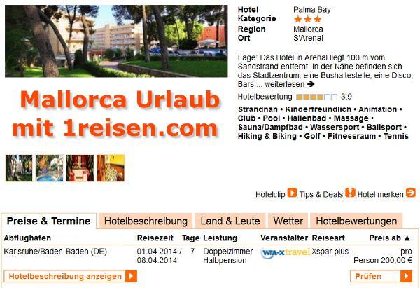 0-Urlaub-Mallorca-Hotel-3-Sterne-Palma-Bay-1W-200-S-Arenal