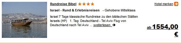 Urlaub Rundreise Israel Reisen Hotel Flug 8 Tage ab 1554.- Euro