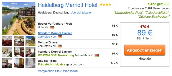 4 Sterne Hotel Marriott Heidelberg
